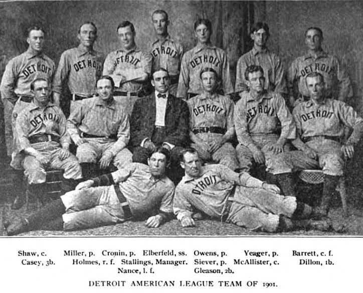 The 1901 Detroit Tigers where Roscoe Miller spent his record setting rookie season.  Also, the first year the Detroit Tigers where a MLB team.