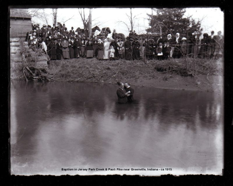 Baptism in Jersey Park Creek (1915)