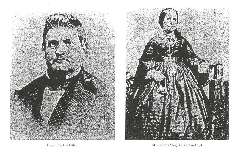 Captain John Ford & Mary Bower Ford (1864)
